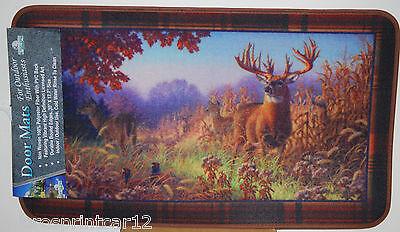 """17.7/"""" x 30/"""" Indoor//Outdoor Deer Scene Door Mat #1861"""