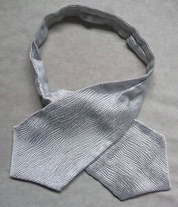 Boys Cravat Wedding Ascot Necktie Formal Party One Size Silver Grey Ties Clothing, Shoes & Accessories
