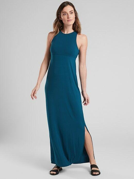 ATHLETA Santorini Maxi Dress XXS Coastal Teal