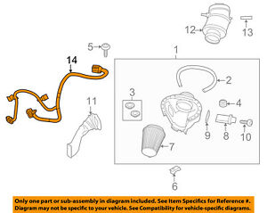 FORD-OEM-13-14-Mustang-5-8L-V8-Air-Cleaner-Intake-Wire-Harness-DR3Z12A690A