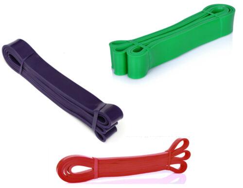 violet Lot de 3 assisté Pull Up bandes-Crossfit-Résistance-rouge /& Green