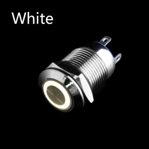 12mm Waterproof Car Dash LED Light Power Push 4 Pin Button Switch Reset