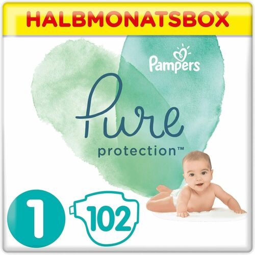 Gr Halbmonatsbox 1 2kg-5kg 1 x 102 Windeln Pampers Pure Protection Windeln