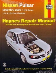 new haynes repair workshop manual nissan pulsar n16 38345727740 ebay rh ebay com au nissan pulsar haynes manual nissan pulsar n14 repair manual download