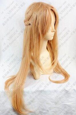 Sword Art Online Asuna Yuuki long cosplay wig 80cm free shipping