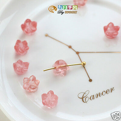 Two pcs Tiny Flower Shape 7×5 mm Natural RED Cherry Quartz Gemstone Beads T143