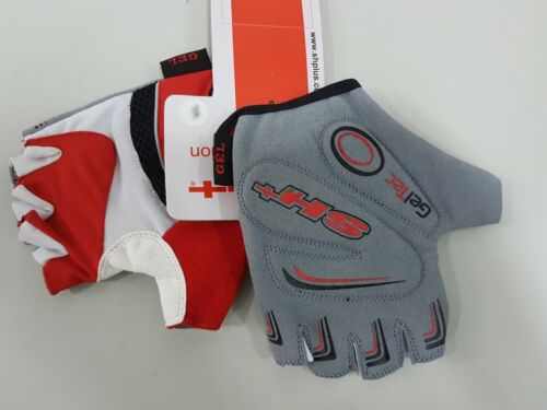 SH Dragonfly Half Finger Cycling Glove Red White Size L