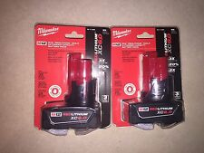 (2-Pack) NEW Milwaukee Genuine 12v M12 XC 6.0Ah Extended Battery 48-11-2460