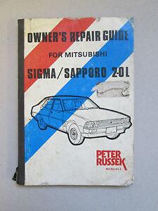 repair manual mitsubishi colt sigma gallant sapporo 2 0 g5 1978 rh ebay co uk Barbara Russek Andy Russek