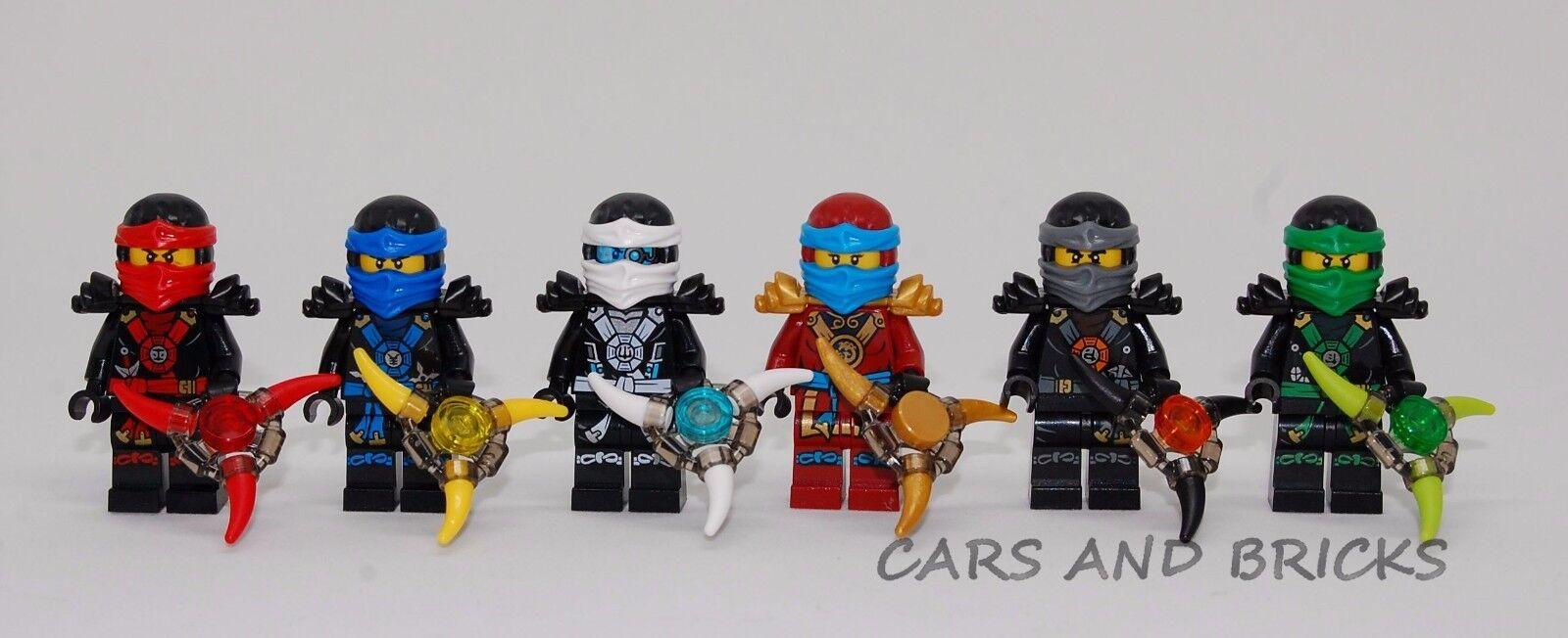 LEGO NINJAGO NINJA COLE JAY KAI LLOYD ZANE NYA MINIFIGURES W / WEAPONS NEW