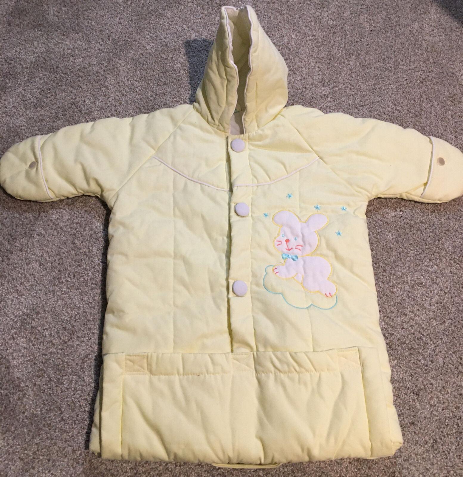 Children Babies Girls 12m-18m Light Pink Duck Dress Coat Pink Jacket Vintage 60s 70s