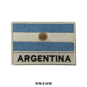 ARGENTINA National Flag Embroidered Patch Iron on Sew On Badge For Clothes etc