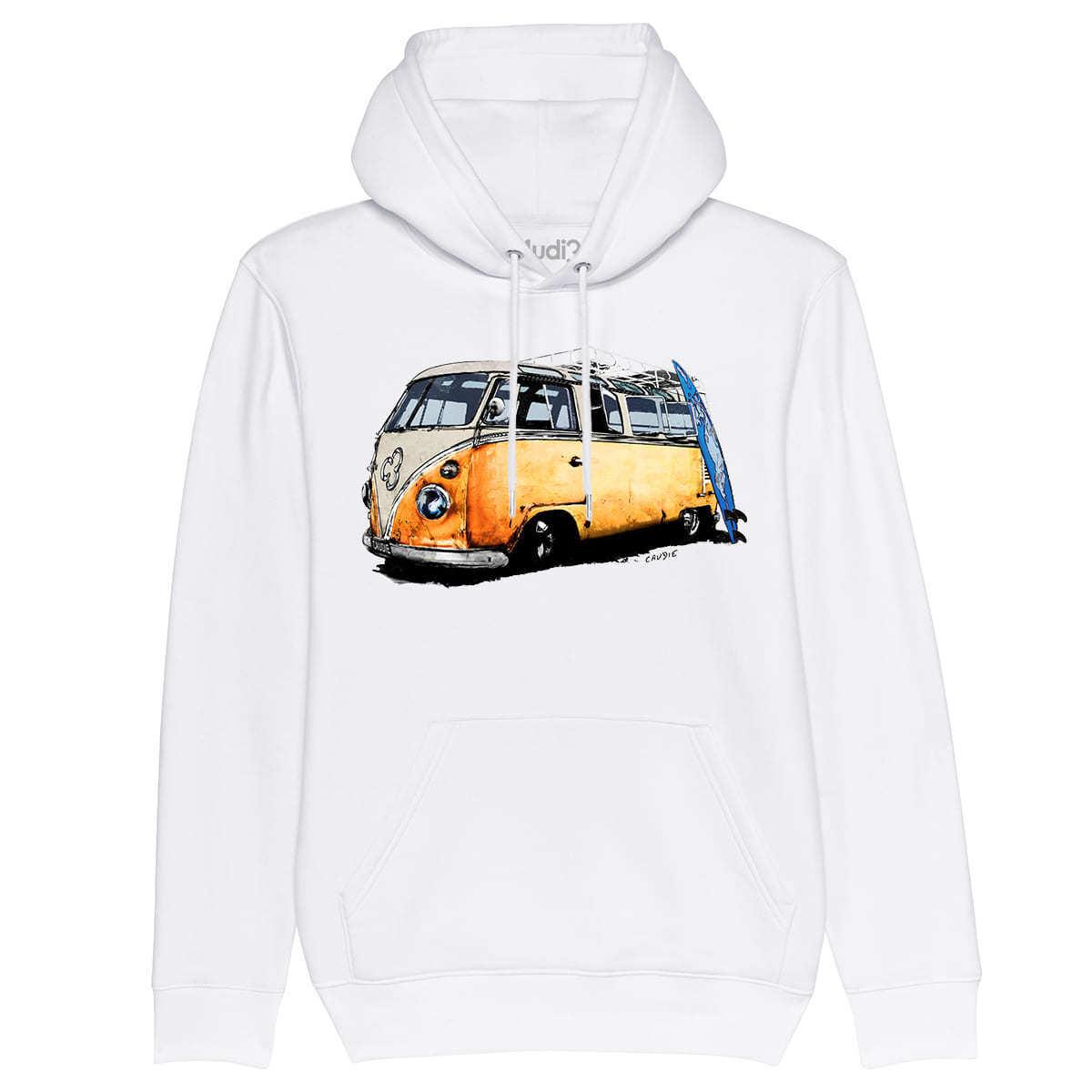 Hoodie COMBI    Volkswagen samba split bulli barndoor surf sweat à capuche bio  presentando toda la última moda de la calle