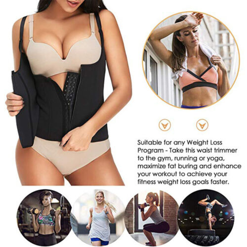 Sport Sweat Suits Body Shaper Women Slim Corsets Neoprene Zipper Waist Trainer