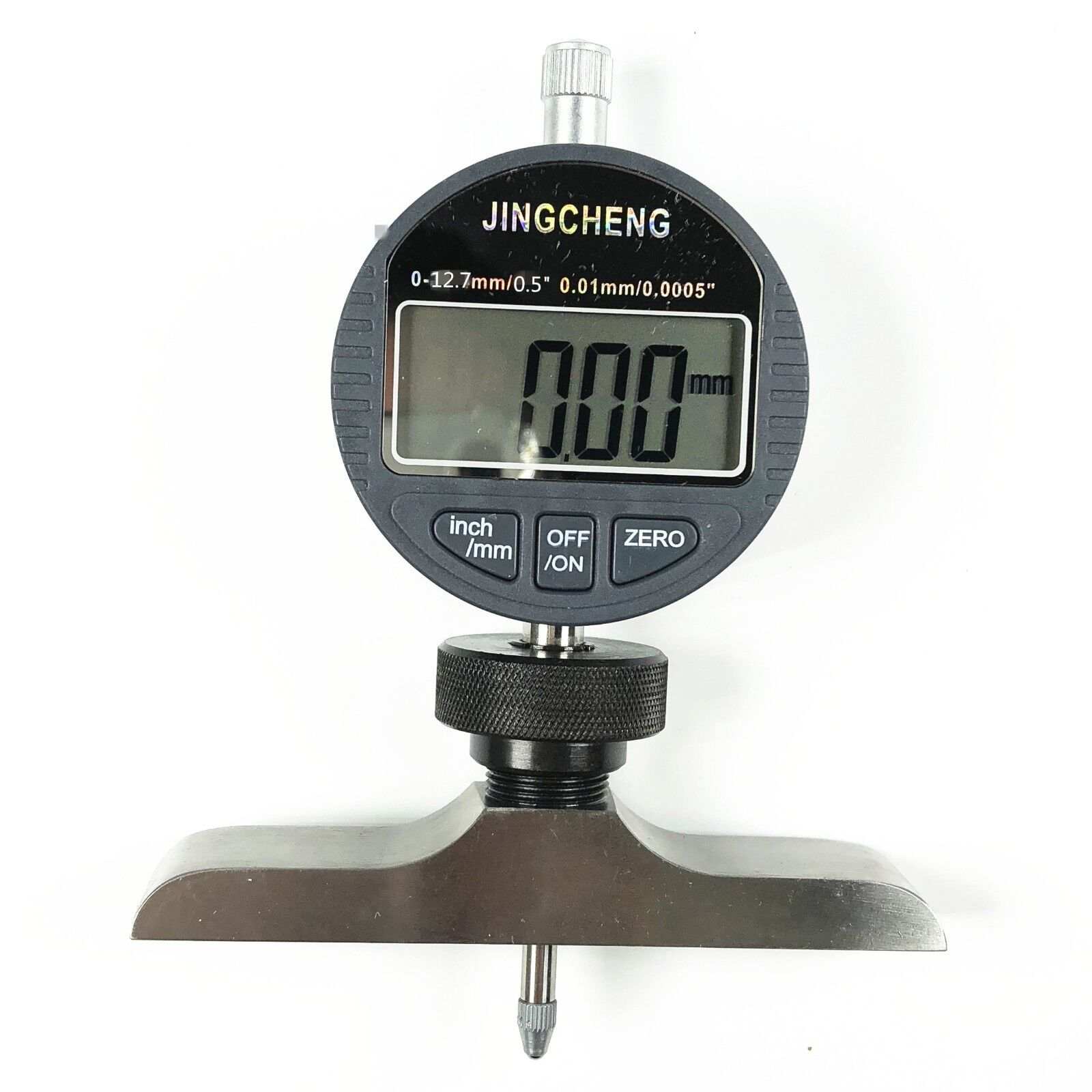 1) 0-12.7mm 0.5  0.01mm 0.0005  Electronic Digital Depth Gauge Micrometer Gauge