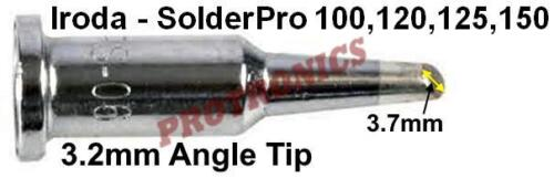 100,120,125W Gas Iron SOLDERING TIP 3.2mm BEVEL Angle/_IRODA SolderPro 120 150