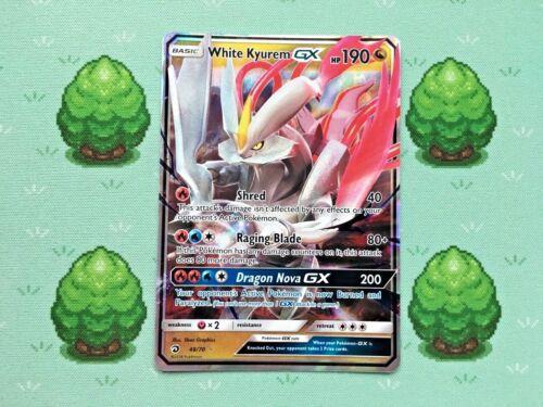 Half Art White Kyurem GX SM Dragon Majesty Pokemon 48//70