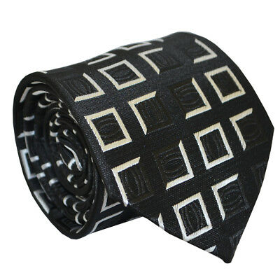 (nt019) Silk Black White Men Necktie Tie Wedding Party Office Business For Men Um Das KöRpergewicht Zu Reduzieren Und Das Leben Zu VerläNgern