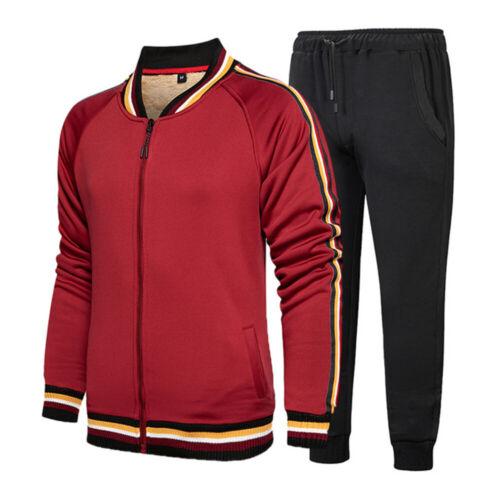 Men/'s Jogger Tracksuit Casual 2 Piece Sport Pants Jacket Sweatsuit Sweater Set