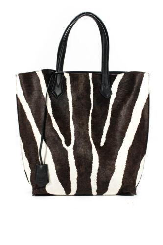 Fendi Pony Hair Animal Print Large Tote Handbag Wh