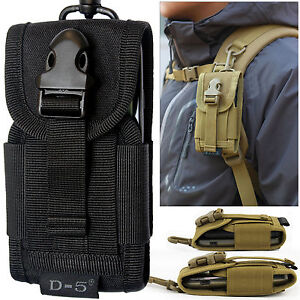 Universal-Army-Bag-With-Belt-Loop-amp-Carabiner-Hook-Cover-Holster-Mobile-Pouch