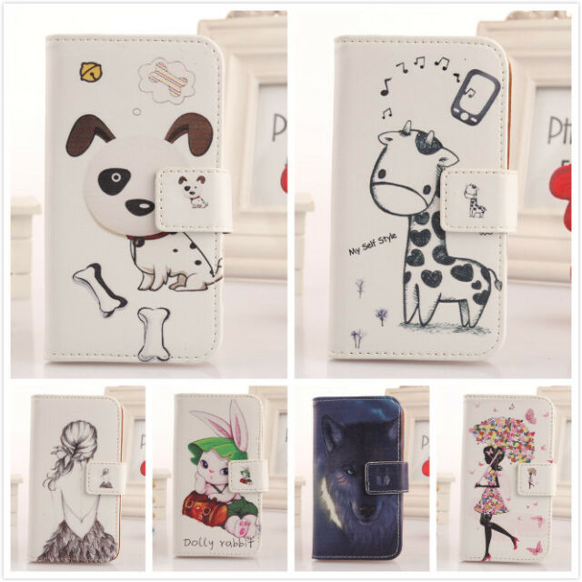 1x Cute Design PU Housse Cuir Etui Coque Case Cover Pour BlackBerry Classic Q20