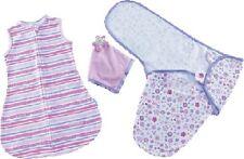 Baby Girl Gift Pack SwaddleMe Swaddling Wrap, Security Blanket & Slumber Sack