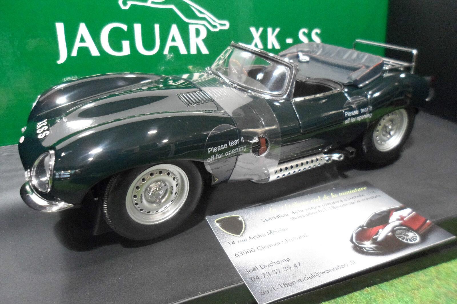 JAGUAR XKSS 1956 cabriolet vert vert au 1 18 AUTOart 73511 voiture miniature