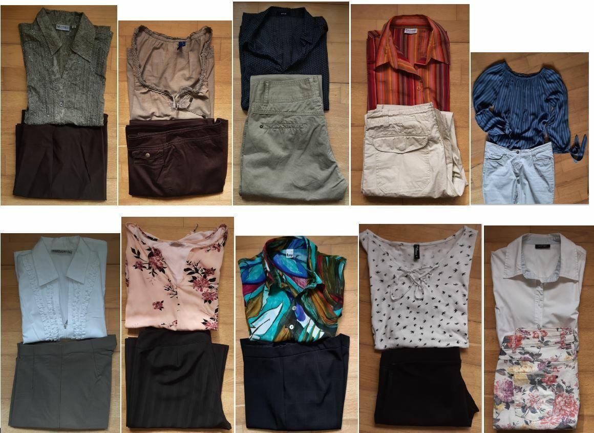 1 x Hose & Bluse verschiedene Sets Gr. 38 / 40 M Cecil TCM H&M ...