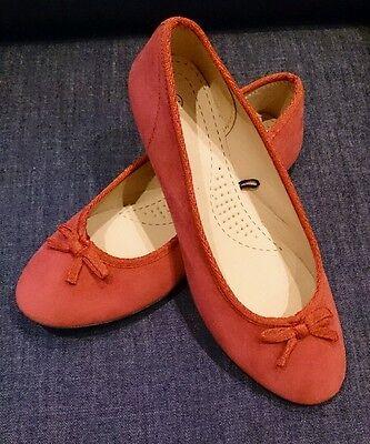 Damen Schuhe Sommer Damenschuh Ballerinas rot Größe 40 (6 1/2 ) Kunstleder Stoff