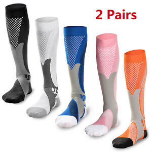 2-Pairs-30-40-mmhg-Sports-Knee-High-Compression-Socks-for-Running-Fitness
