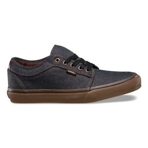 1f8fbdc4fe0b5a VANS Chukka Low (Oxford) Black Gum UltraCush Skate Shoes MEN S 7 ...