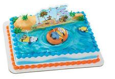 Minions Despicable Me Beach cake decoration Decoset cake topper set party toys