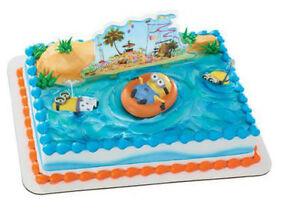Image Is Loading Minions Despicable Me Beach Cake Decoration Decoset