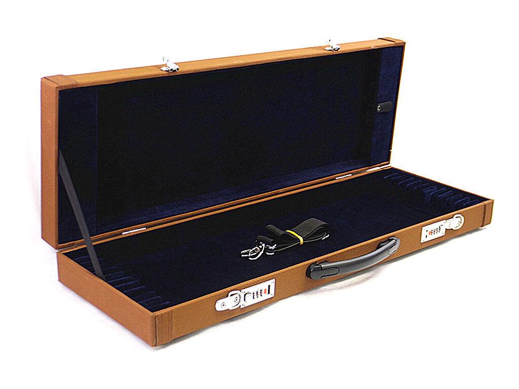 Pro. New schwarz 12-Bow Case - Fit 4 4 violin lila cello bows