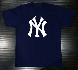 a5f1401acb2c6 New York Yankees T-Shirt Graphic NY Cotton Men Adult Logo Jersey NYY ...