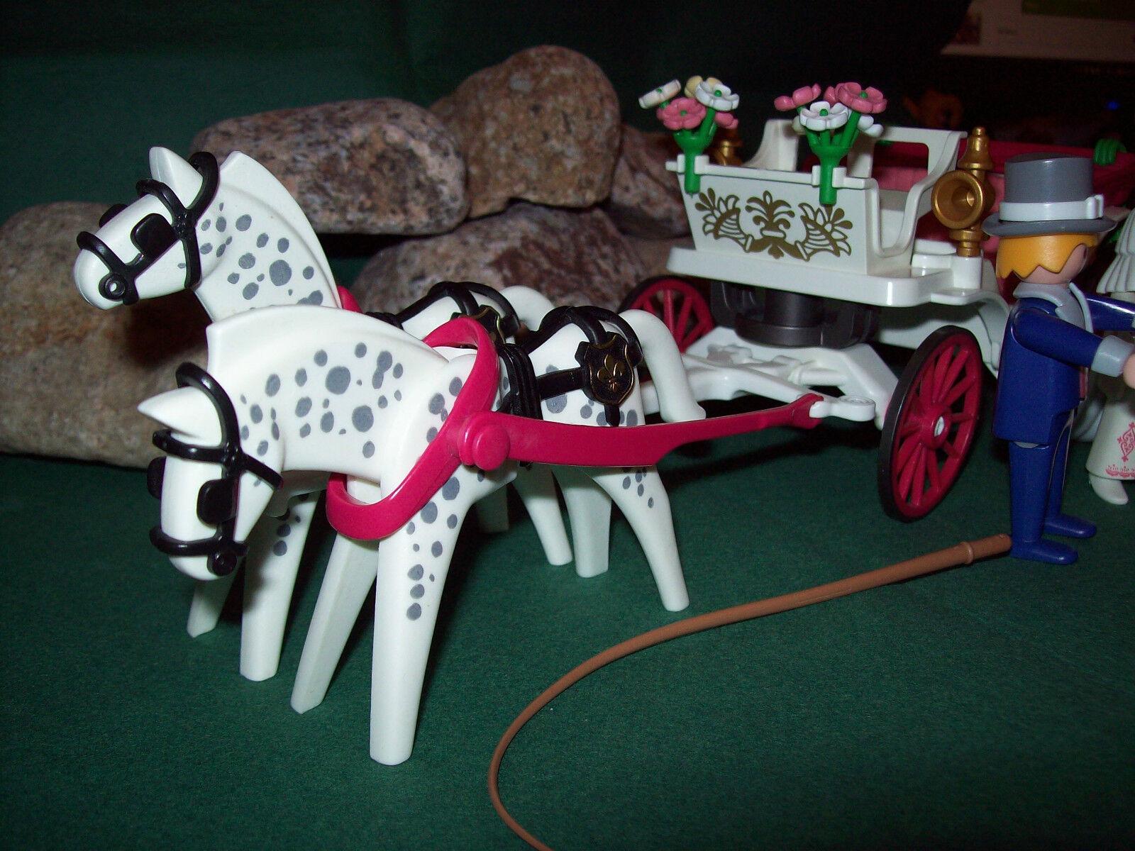Playmobil Nostalgie-Hochzeitskutsche 7261 II mit Brautpaar 5509-A 5509-A 5509-A 1995 o.OVP b9a6ca