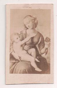 Vintage-CDV-Album-Filler-Madonna-amp-Child-Painting