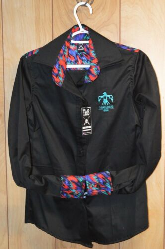 Racing Barrel marca Ripple Rodeo da Camicia di Black Western uomo Thunderbird vvpY4