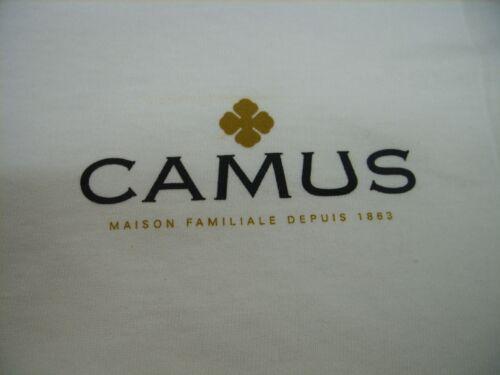 """CAMUS COGNAC FRANCE /""""MAISON FAMILIALE DEPUIS 1863/"""" PROMO MEN/'S T-SHIRT MED."""
