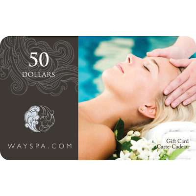 WAYSPA Gift Card - $50 Mail Delivery