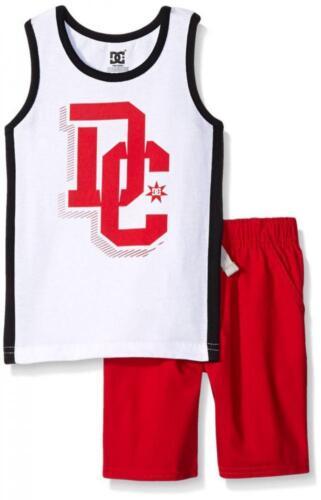 DC Shoes Boys White Tank Top 2pc Short Set Size 4 5 6 7 $49.50