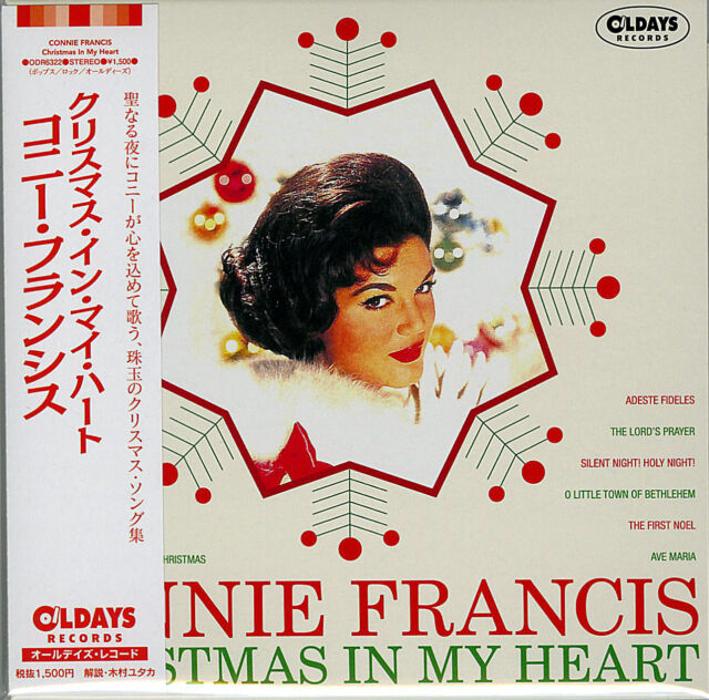 connie francis christmas in my heart japan mini lp cd bonus track c94 - Christmas In My Heart