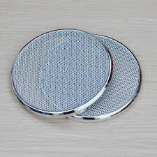 """2pcs 8/"""" inch Audio Speaker Cover Decorative Circle Metal Mesh Grille #Silver3"""