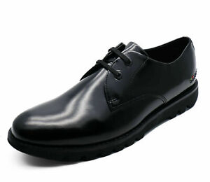 MENS-BLACK-KICKERS-KYMBO-LACE-UP-HI-SHINE-LEATHER-SMART-DERBY-SHOES-SIZES-40-46