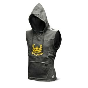 New adidas Boxing Club SLEEVELESS Distressed Boxing Hoodie Premium Heavy Cotton
