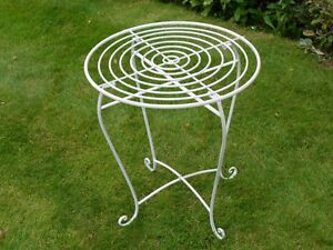Contemporary Retro White Metal Round Patio Garden Bistro
