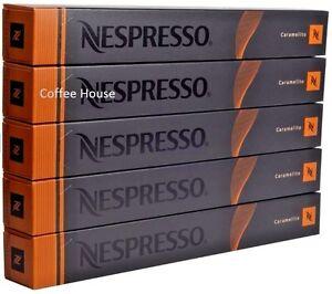 Fougueux 50 Nouveau Original Nespresso Caramel Caramelito Saveur Café Capsules Dosettes Uk-afficher Le Titre D'origine