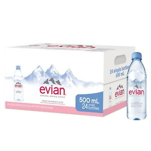 a641568a85 evian Natural Spring Water One Case of 24 Individual 500 ml (16.9 oz ...