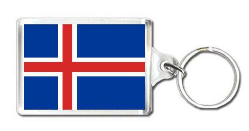 ICELAND FLAG KEYRING SOUVENIR LLAVERO